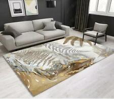 3D Gray Yellow Leaves Non-Slip Rug Door Shower Play Mat Hearth Floor Carpet 73