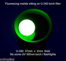 Hoya U-340  37mm x 2mm UV-Pass Filter for MTE 365nm torch flashlight glass only