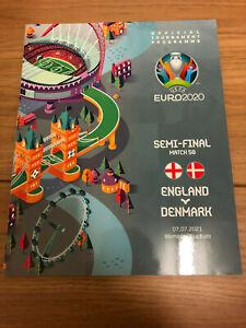 UEFA EURO 2020 Semi-Final England v Denmark 7 July 2021 Football Programme