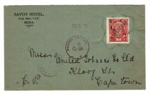 Co. Mozambique Company 1916 cover 2,5 centavos / 25 Reis to Cape Town S. Africa