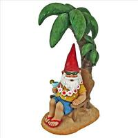 ©Beach Comber Gnome Dude Design Toscano Exclusive Hand Painted Garden Statue