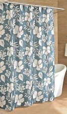 Caribbean Joe Key West Hibiscus Flowers Shower Curtain and Hooks Bathroom A