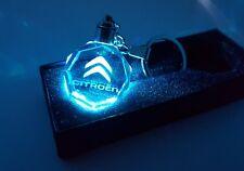CITROEN C5 C4 C3 C2 BERINGO DS3 Keyring Crystal LED Light Gift Pouch Keychains