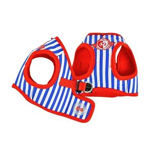 Puppia - Dog Puppy Harness Soft Vest - Sport - Royal Blue Red - S, M, L, XL