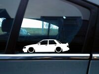 Lowered car silhouette stickers for Ford Sierra Sapphire RS Cosworth (w/ spoiler