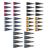 "Football Pick Your Team Mini Pennant Banner Flags 4"" x 9"" Fan Cave Decor 8 Pk"