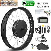 Aluminium Alloy 48V 1500W Electric Bicycle Conversion Motor Wheel DIY Refit Kit