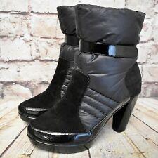 Womens Florucci Black Pull On High Heel Platform Ankle Boots Size UK 5 EUR 38