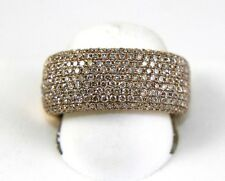 Wide Cluster Diamond Pave Dome Ladys Ring Band 14k Rose Gold 2.60Ct
