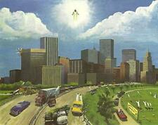 RAPTURE PRINT - 28 X 22 Bible Prophecy Print of the Rapture by Chas Anderson