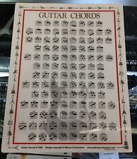 Guitar Chord Chart Portable On the Go Case Teaching Beginner 8.5 x 11 1056