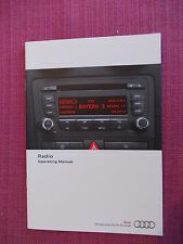 AUDI RADIO CD AUDIO USER MANUAL - HANDBOOK. A1 A3 A4 A6 A8 TT S3 S4 Q7 (AA 186+)