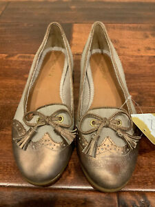 Sperry Top-Sider Bronze Wing Tip Slip-On Flats W/ Bows & Tassles, Size 7 (US)