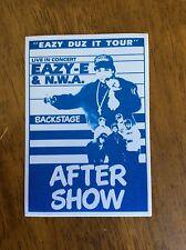 """Eazy-E """"Eazy Duz It"""" tour backstage pass Blue Silk"""