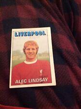 Trade Card Abc A&bc Liverpool No 8 Alec Lindsay Red Back Good