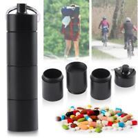 Pill Drug Box Case Bottle Holder Waterproof Container Keychain Medicine Capsule