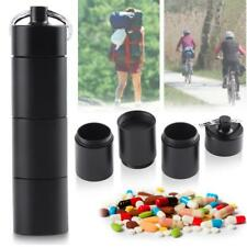 Pill Drug Box Case Bottle Holder Waterproof Container Keychain Medicine Capsule