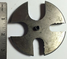 """3 1/8"""" SLOTTED ARBOR PRESS ROUND METAL ANVIL WHEEL PLATE 1/2"""" THICK TOOL PART"""