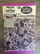 1975 VFL AFL football record Carlton Blues vs Hawthorn Hawks May 10 1975