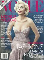 MICHELLE WILLIAMS Marilyn Monroe JOHN HAWKES Karen Elson 2011 Vogue magazine