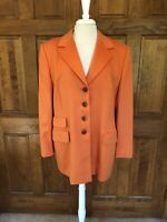 Escada Margaretha Ley Orange Pumpkin Angora Wool Jacket Size 44