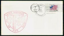 Mayfairstamps US Naval 1992 USS Midway Tip of The Sword cover wwe89179