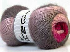 Lot of 4 x 100gr Skeins Ice Yarns MADONNA (40% Wool 30% Mohair) Yarn Pink Sha...