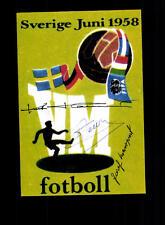 Kurt Hamrin Josef Masopust 1xUnbekannt WM 1958 Foto Original Signiert+A 150551