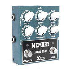 Delay Guitar Effect Pedal Analog 600 Msec Xvive W3 Overdrive Echo Chorus Vibrato