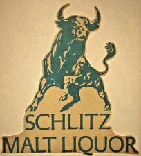 Original Schlitz Malt Liquor Bull Iron On Transfer Beer