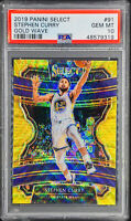 Stephen Curry 2019-20 Panini Select TMALL GOLD WAVE Prizm PSA 10 POP 4 💎🔥📈