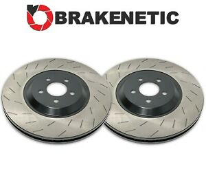 FRONT BRAKENETIC SLOTTED Brake Rotors Hellcat SRT w/6 PISTON BREMBO BNP63088.OES