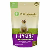 L-Lysine Chews for Cats, Immune and Respiratory Support Supplement, 60 Bite Size