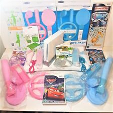 Nintendo Wii console bundle for boys/ girls +family =Fit balance board +Games+++