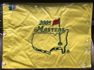 NEW!! 2005 MASTERS FLAG Unopened Tiger Woods Last Win AUGUSTA NATIONAL