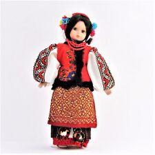 Poupée collection costume folklorique ukrainien H 31 artisanat fait brodé main