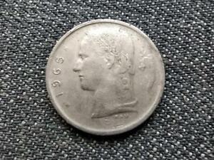 Belgium Baudouin I (1951-1993) 1 Francs Coin (French text) 1965