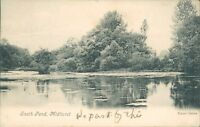Postcard Sussex south Pond Midhurst posted 1905