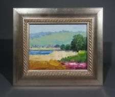 "Oil Painting on Canvas with Frame, ""Summer Landscape"", Impressionist"