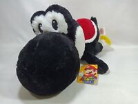 Super Mario Laying Black Yoshi Yossy Nesoberi Kuttari Plush Doll Taito Japan 19""