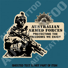 AUSTRALIAN ARMY ARMED FORCES DECAL STICKER ARMY NAVY AIR FORCE MILITARY PROTECT