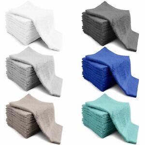1x 4x 12x Premium 100% Cotton Face Towels Cloth Flannels Wash Cloths Super Soft