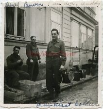 *WWII photo- 80th Infantry Division- ID'D US Anti-Aircraft AA Artillery GI*