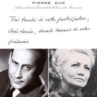 🌓 Pierre DUX Carte de visite à la comédienne Louise CONTE Comédie Française #2