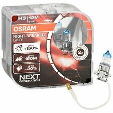 2er Set OSRAM Night Breaker Laser H3 64151NL +150% 12V 55W