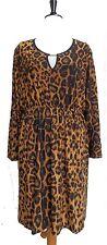 NEW Brown & Black Leopard Print Skater Dress SIZE 22/24