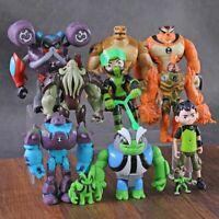 11 pcs PVC Action Figures Toys Set Ben 10 Ten Tennyson Four Arms Heatblast Gift