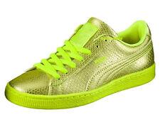 $95 New Womens PUMA Basket Future Minimal Shoes sz 10 NEON YELLOW 1980's safety
