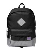 Asics Basics Onitsuka Tiger Black Grey Sports Backpack Rucksack Bag 113933-0900