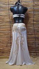 Egyptian Belly Dance Costume bra & Skirt Set Professional Dancing White Gold